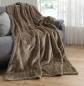 Mobile Preview: Single Kuscheldecke Farbe:     Taupe Beige          Felldecke 150 x 200 cm Nerzoptik